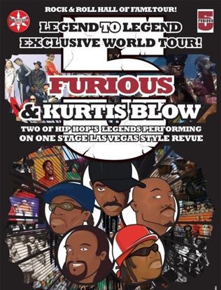 "Grandmaster Melle Mel + The Furious Five (Grandmaster Flash + F5) + Kurtis Blow ""Rock & Roll Hall of Fame tour"", Febr 2010"